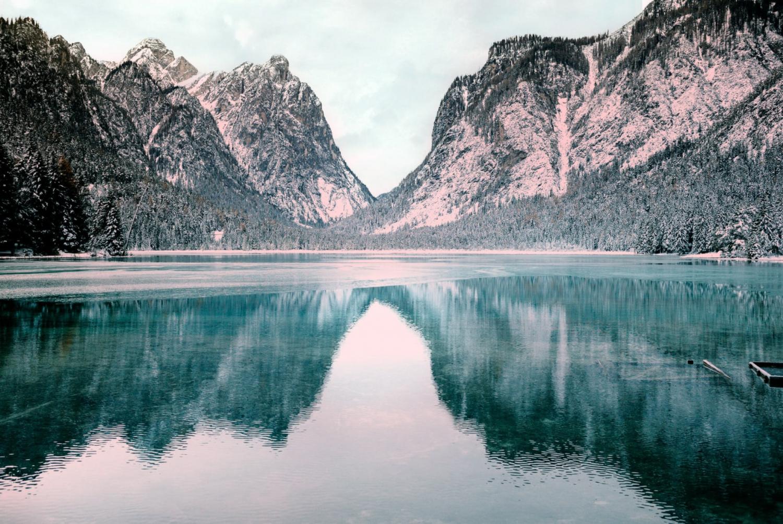 mountain landscape over a lake